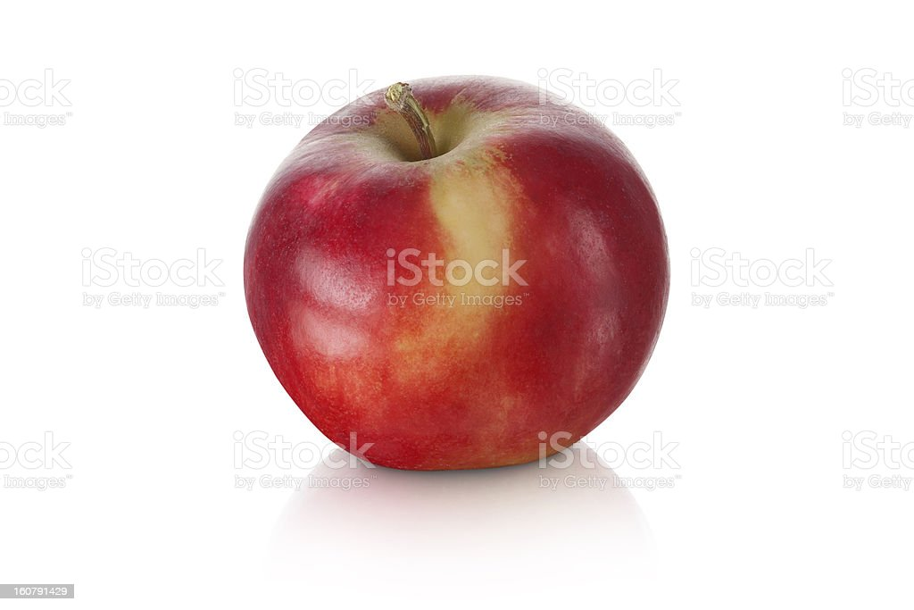 sweet red apple isolated royalty-free stock photo