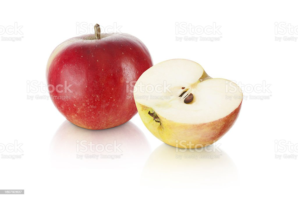 sweet red apple with slice royalty-free stock photo