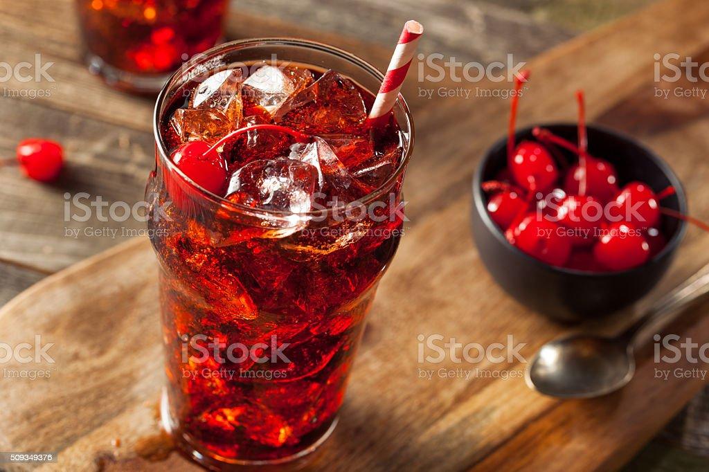 Sweet Refreshing Cherry Cola stock photo