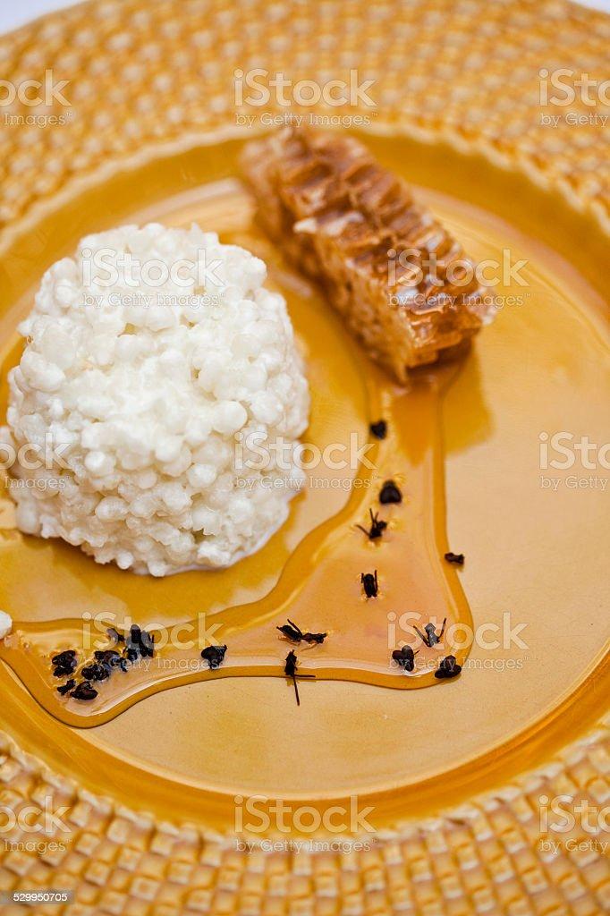 Sweet rice desert stock photo