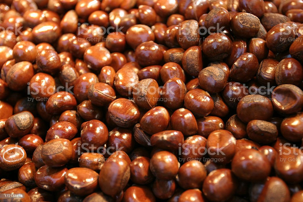 Sweet Roasted Chestnuts royalty-free stock photo