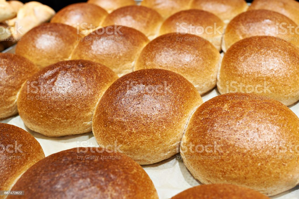 Sweet ruddy buns stock photo