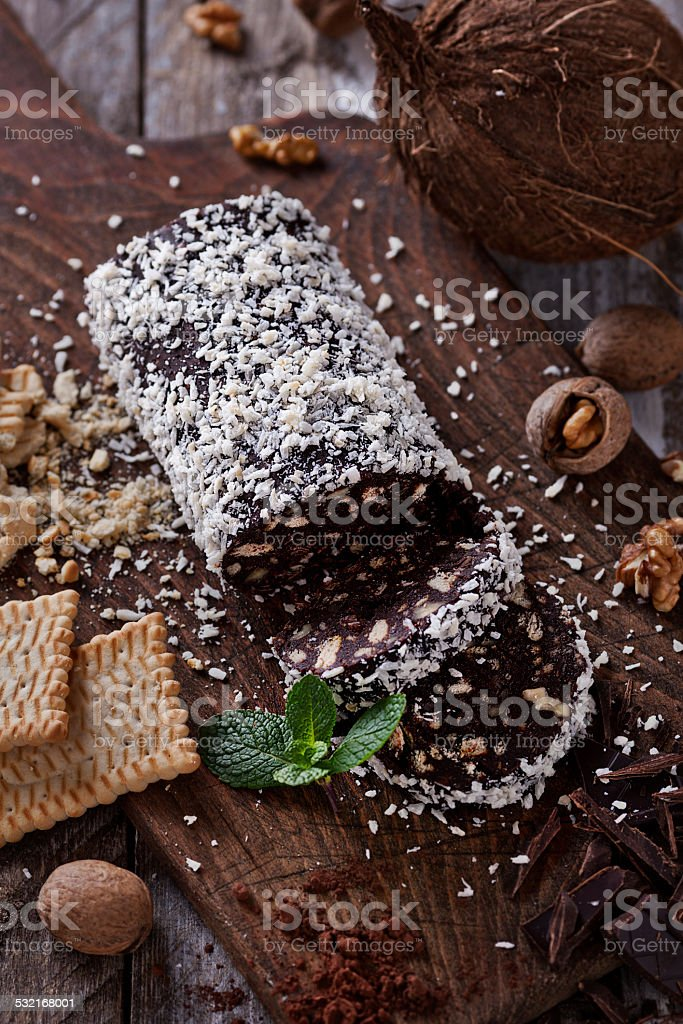 Dolce Salame foto stock royalty-free