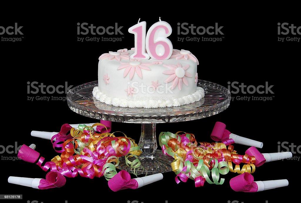 Sweet Sixteen Cake royalty-free stock photo