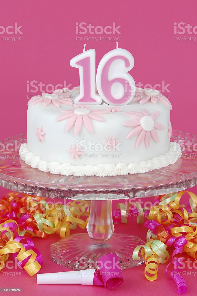 Sweet Sixteen Cake royalty-free stock photo