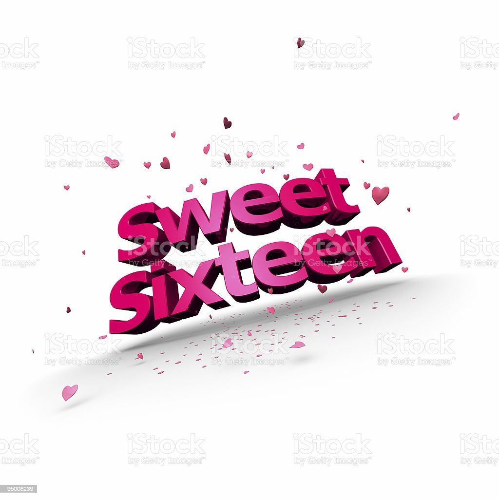 Sweet Sixteen royalty-free stock photo