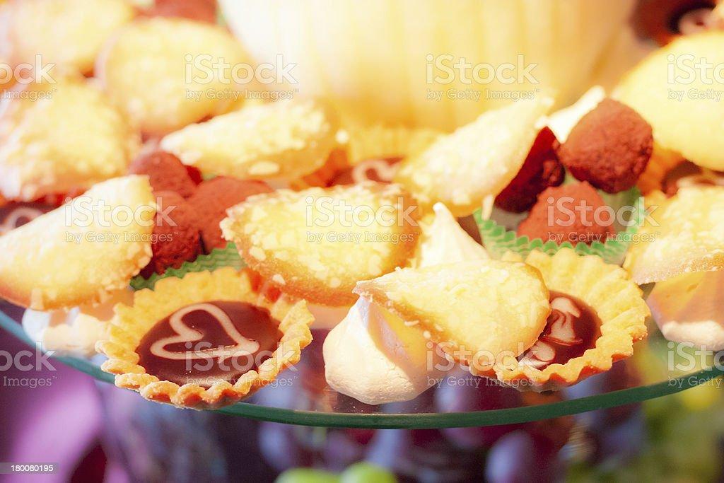 Sweet small cakes royalty-free stock photo