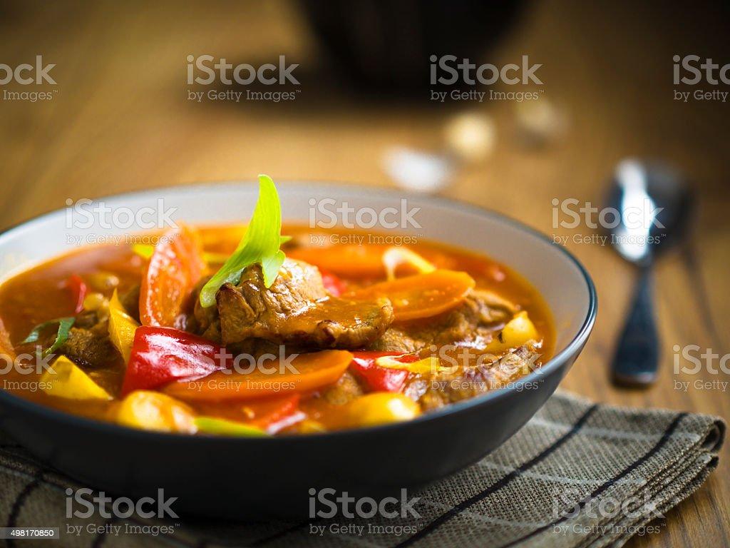 sweet sour pork stock photo