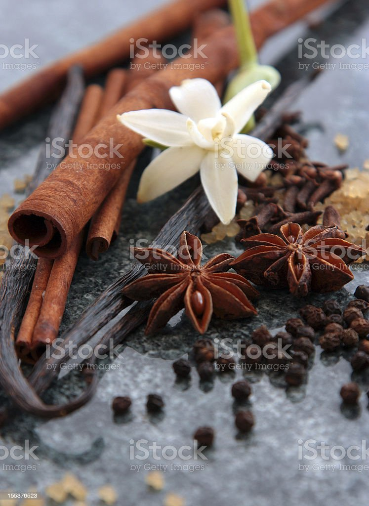 Sweet spices stock photo