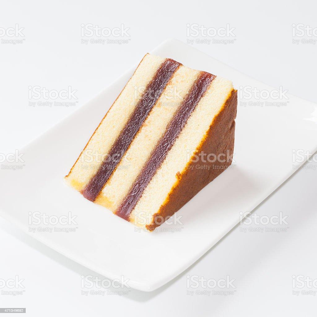 Sweet sponge cake stock photo