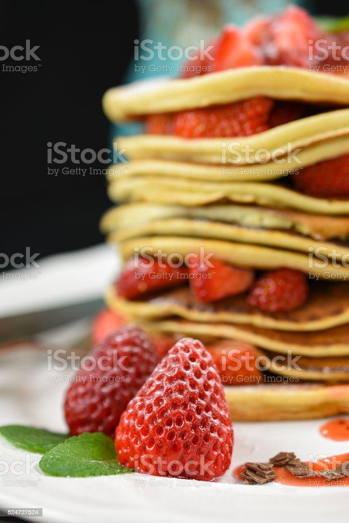 Sweet strawberries stock photo