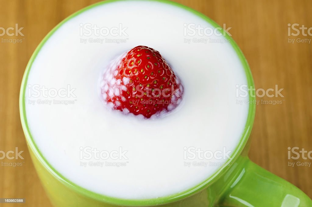 sweet strawberry in a mug royalty-free stock photo