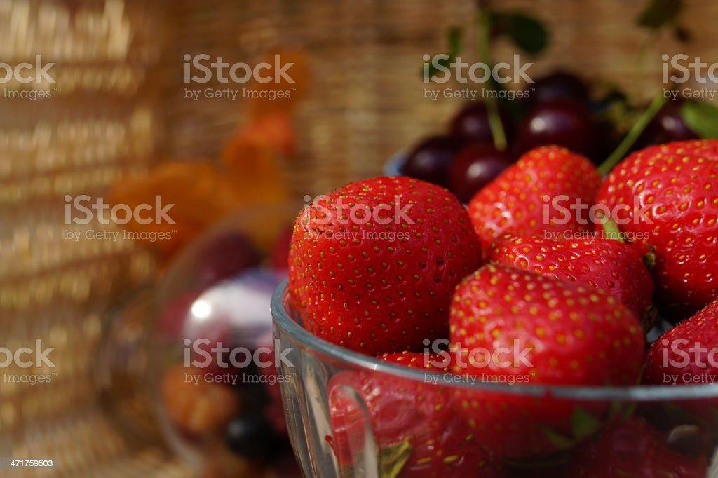 Sweet summer berries royalty-free stock photo