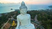 sweet sunset around big Buddha