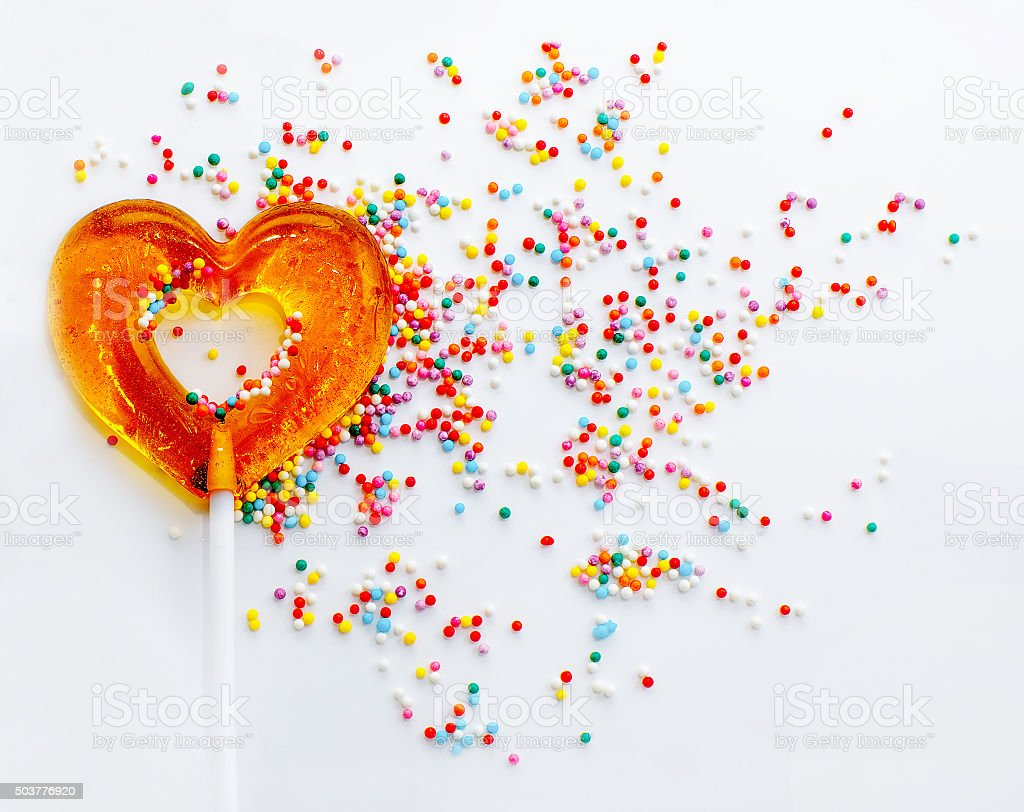 sweet symbol of love stock photo