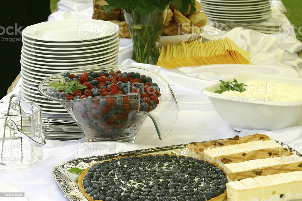 Sweet table royalty-free stock photo