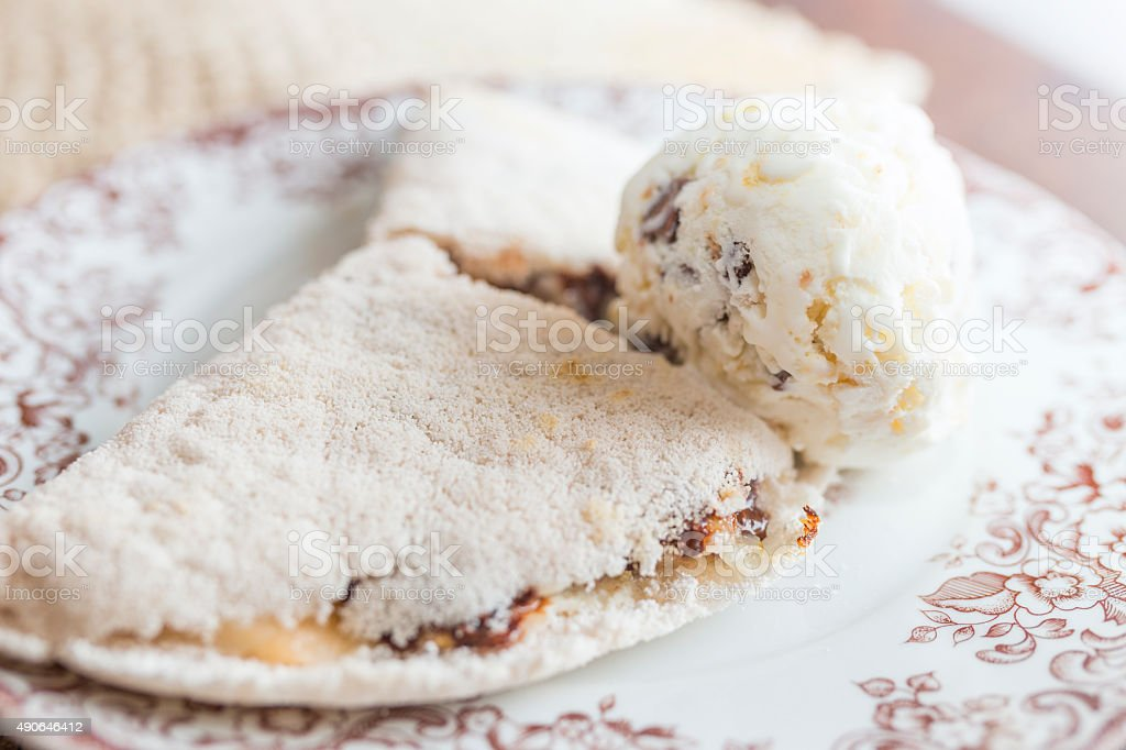 Sweet tapioca with ice cream stock photo