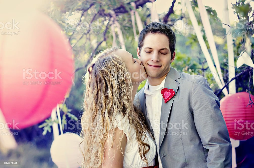Sweet Vintage Kiss royalty-free stock photo