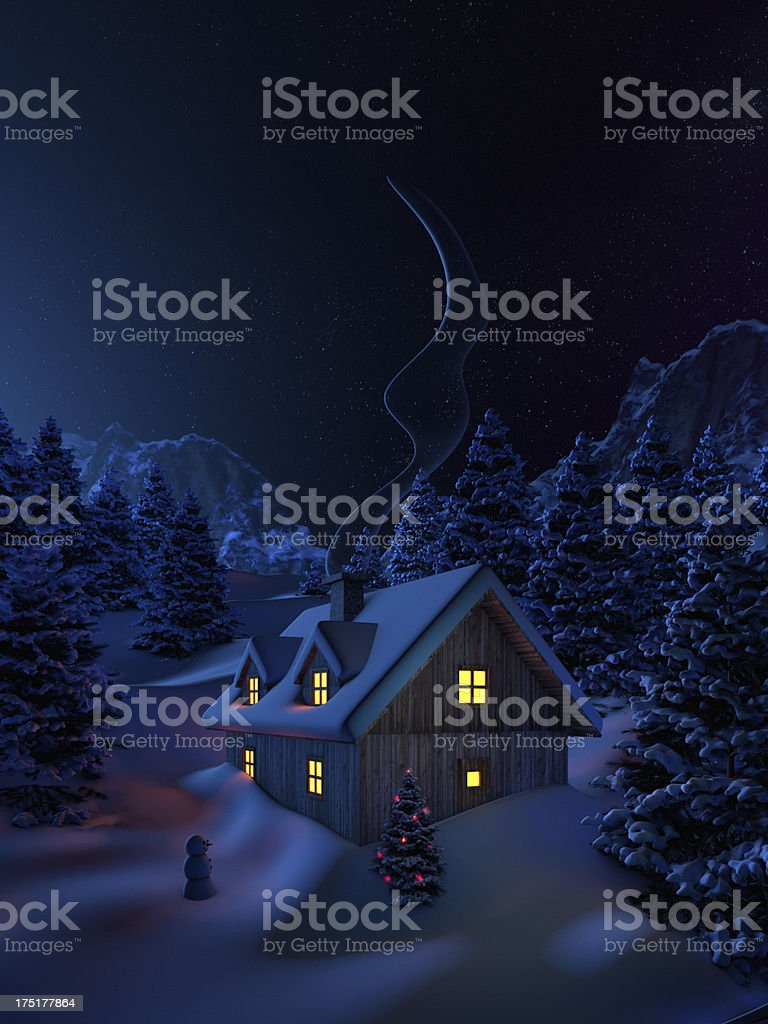 sweet winter home royalty-free stock photo