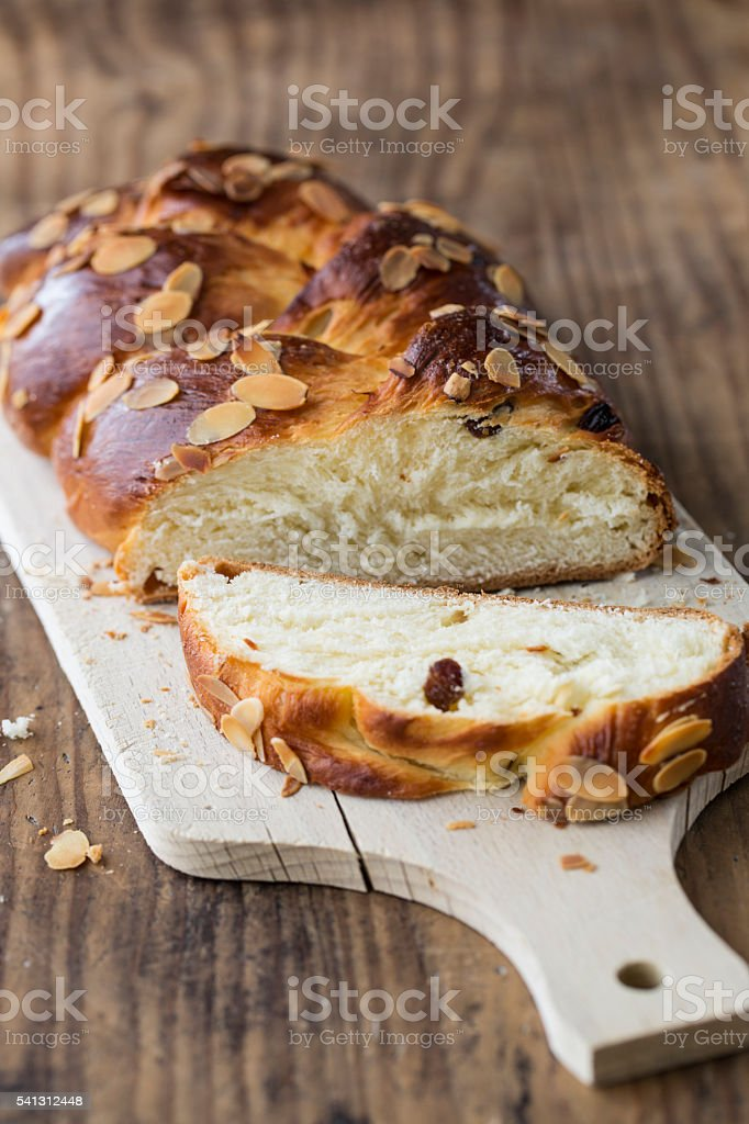 sweet yeast bread stock photo