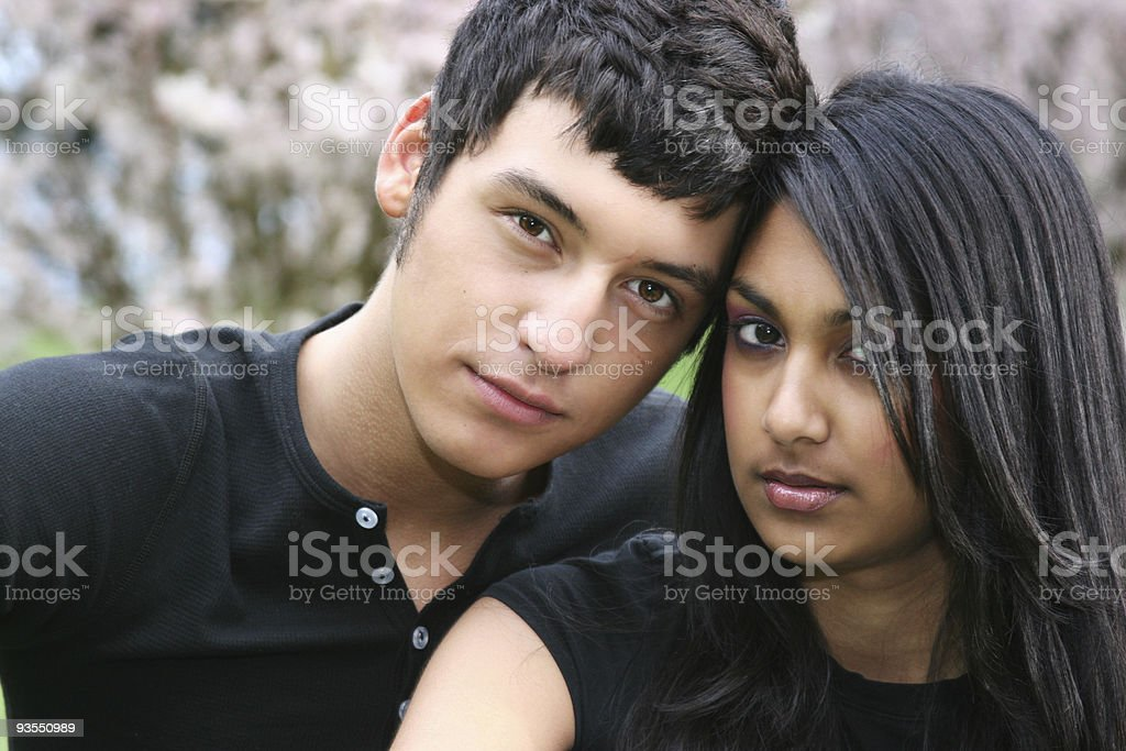 sweet young couple royalty-free stock photo