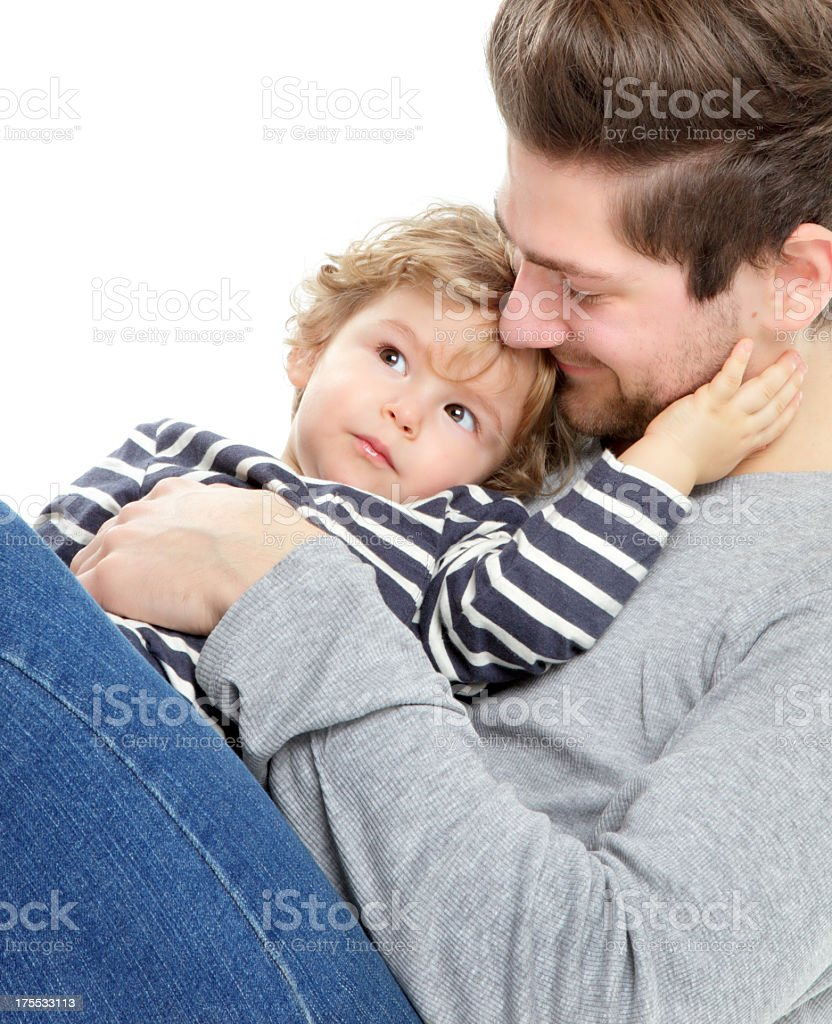 Sweet Young Father and Son stock photo