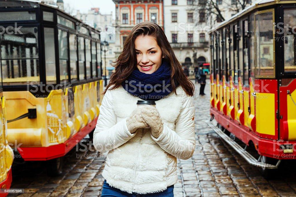 Sweet young woman posing stock photo