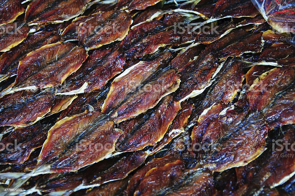 sweeten dried fish royalty-free stock photo