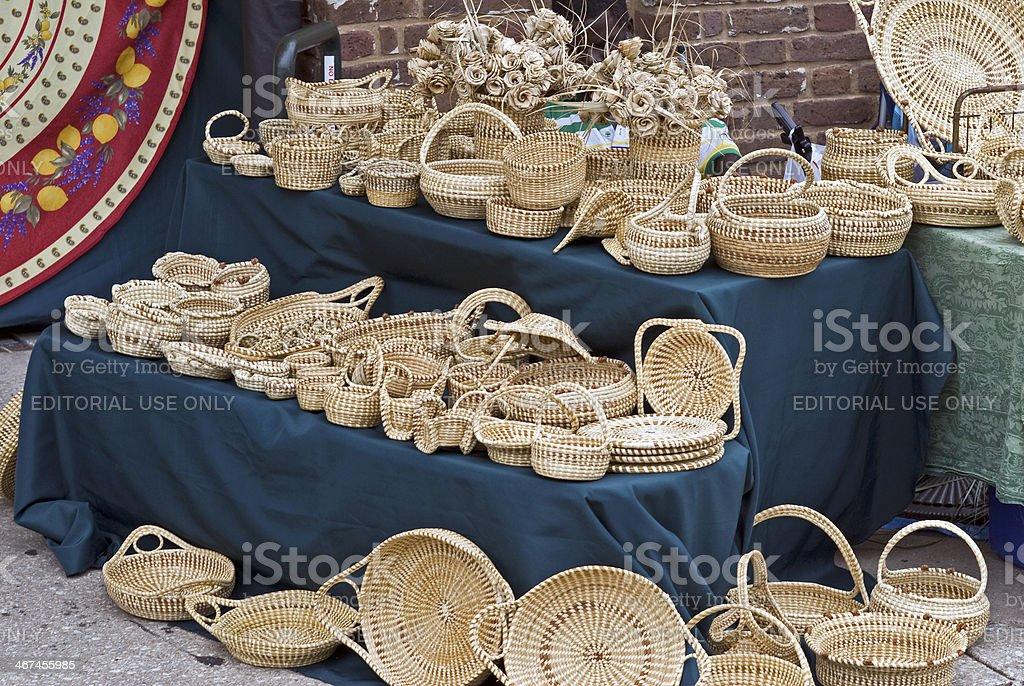 Sweetgrass Baskets royalty-free stock photo