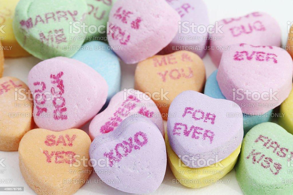 Sweethearts Candies stock photo