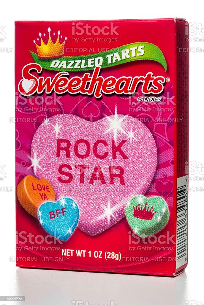 Sweethearts Dazzled Tarts Candies box royalty-free stock photo