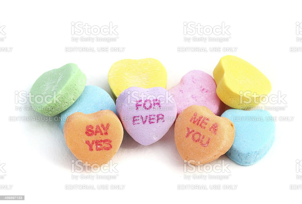Sweethearts Valentine Candies stock photo