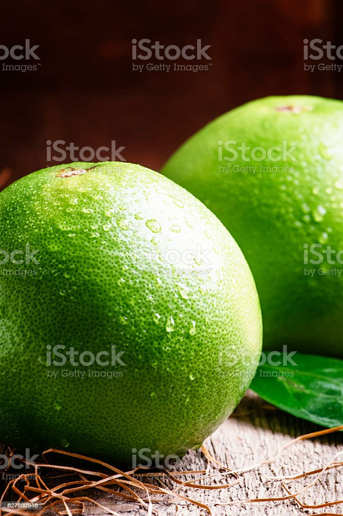 Sweetie, green grapefruit or pomelo stock photo