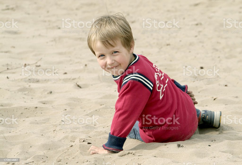 Sweetie in the Sand royalty-free stock photo