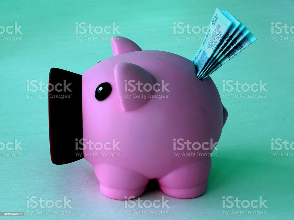 sweetie piggy bank stock photo