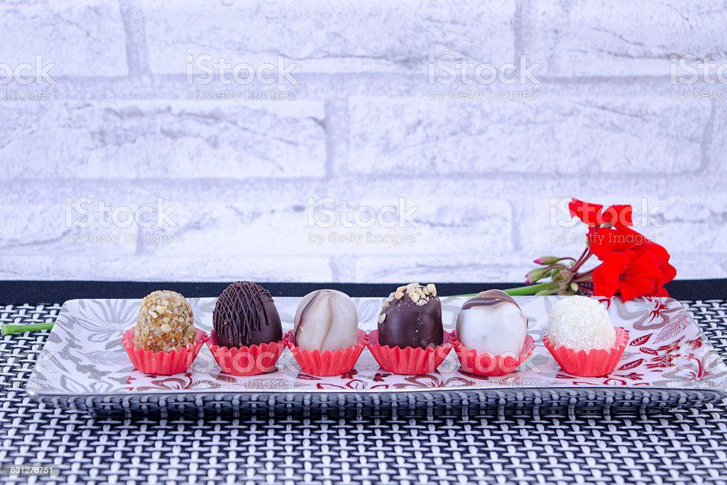 Sweets and cookies on a tray royalty-free stock photo