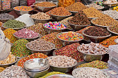 Sweets for sale in an Ahmedabad market