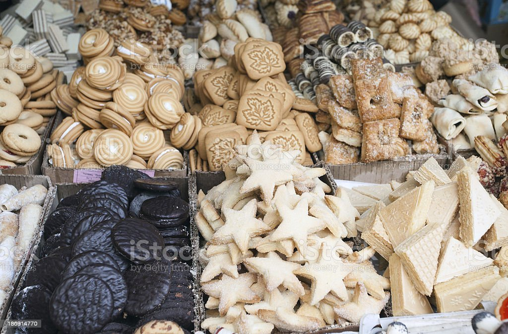 Sweets in the market royalty-free stock photo