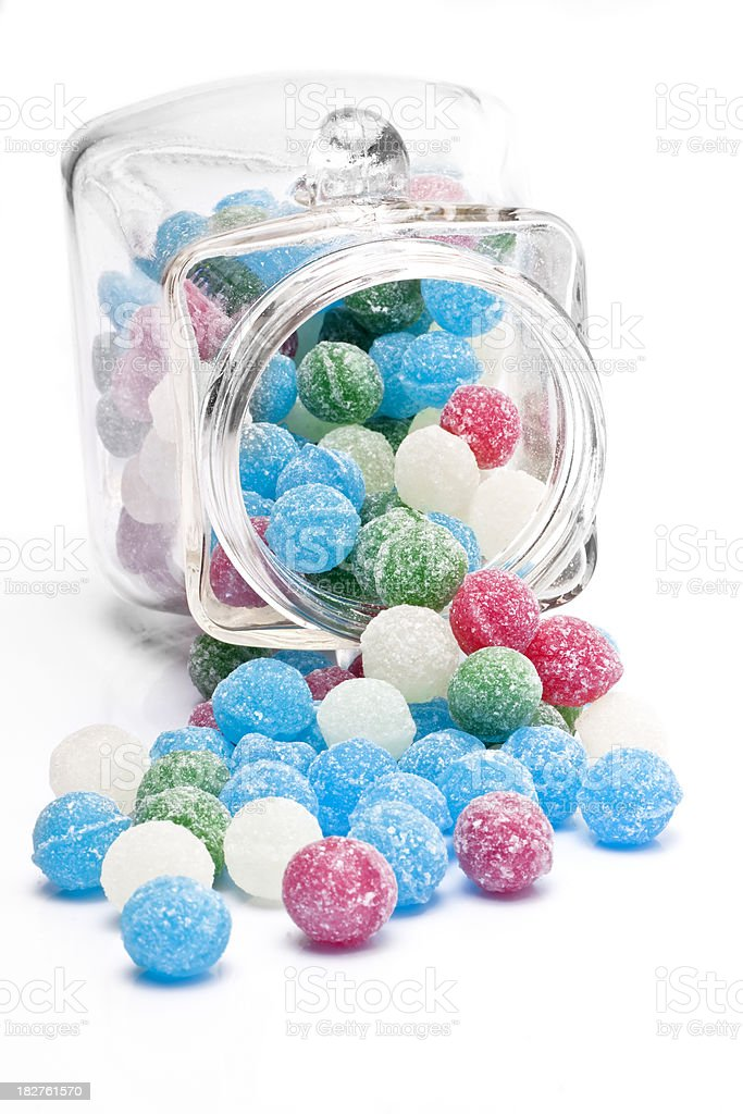 Sweets Sugar Candy Balls in a Jar of Glass royalty-free stock photo