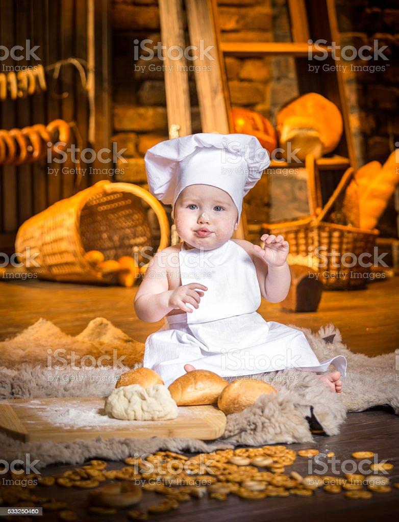 Sweety Baker Baby stock photo