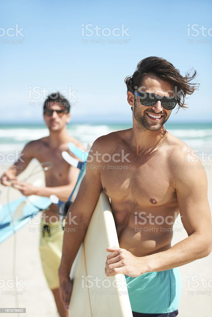 Swell's coming in...surf's up! royalty-free stock photo