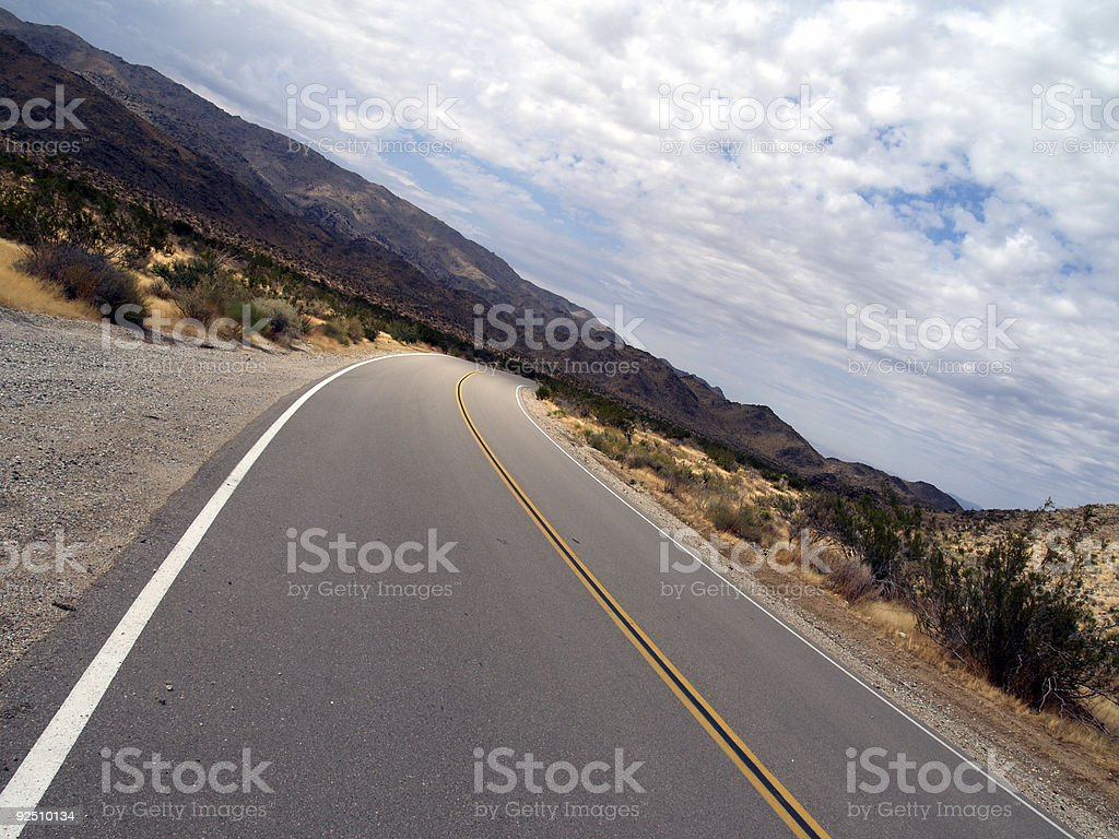 Swerving Road royalty-free stock photo