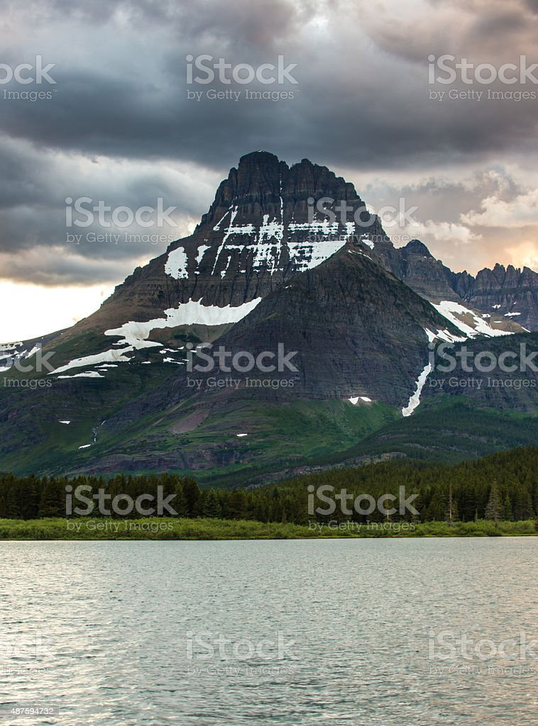 Swifcurrent Lake, Glacier National Park stock photo
