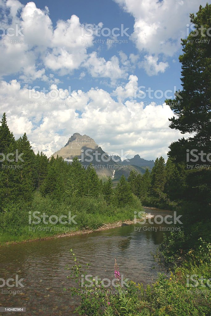 Swiftcurrent Creek royalty-free stock photo