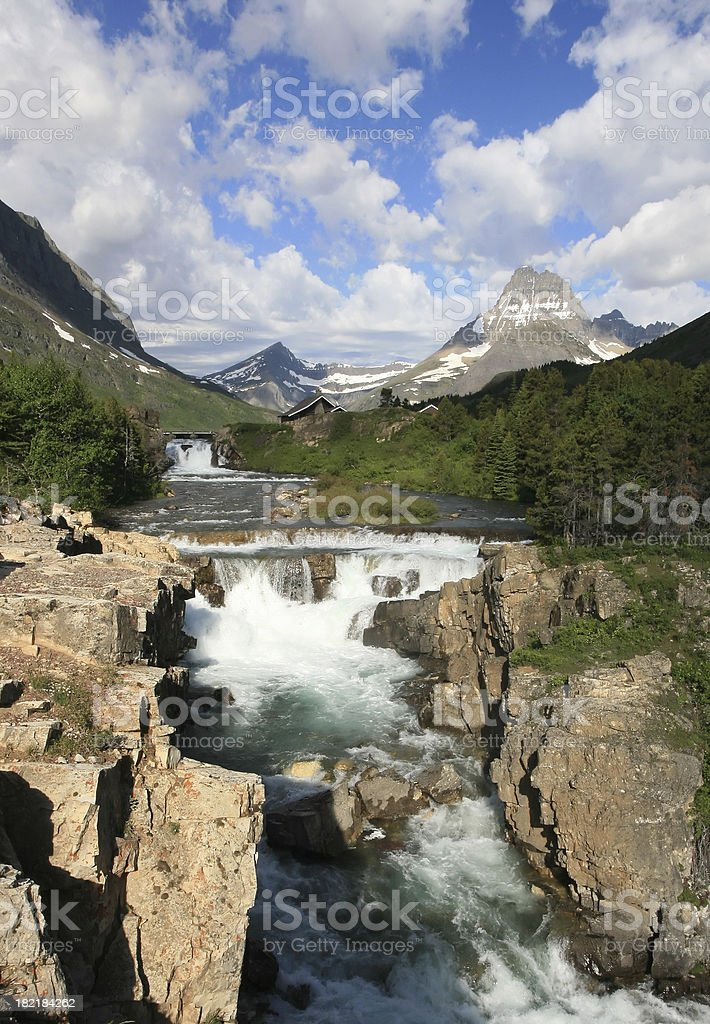 Swiftcurrent Falls - Glacier National Park, Montana royalty-free stock photo