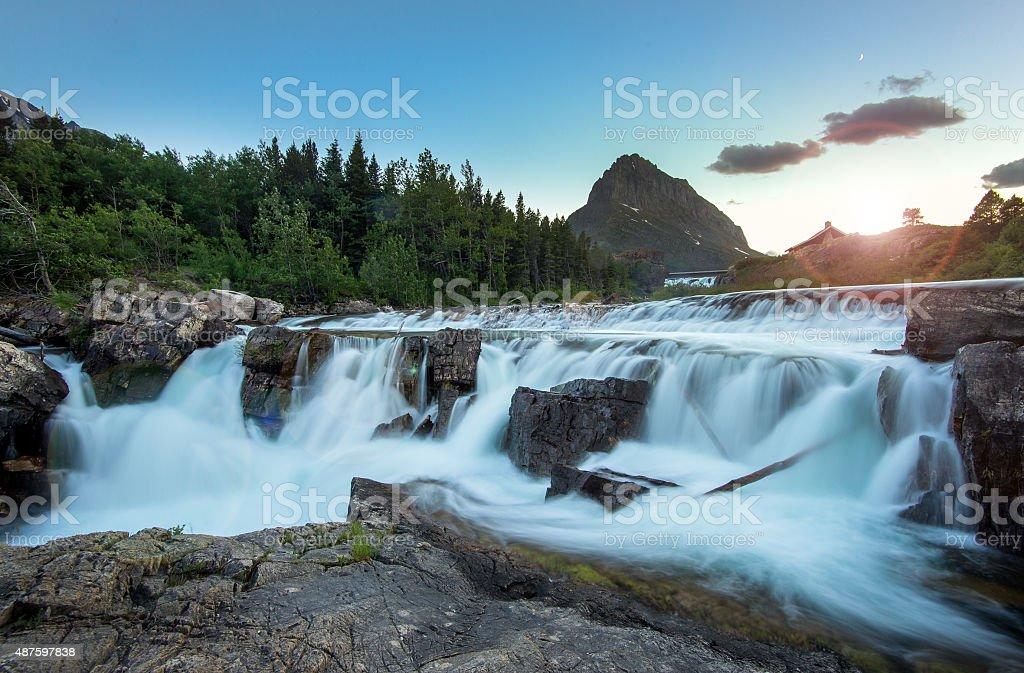 Swiftcurrent Falls stock photo