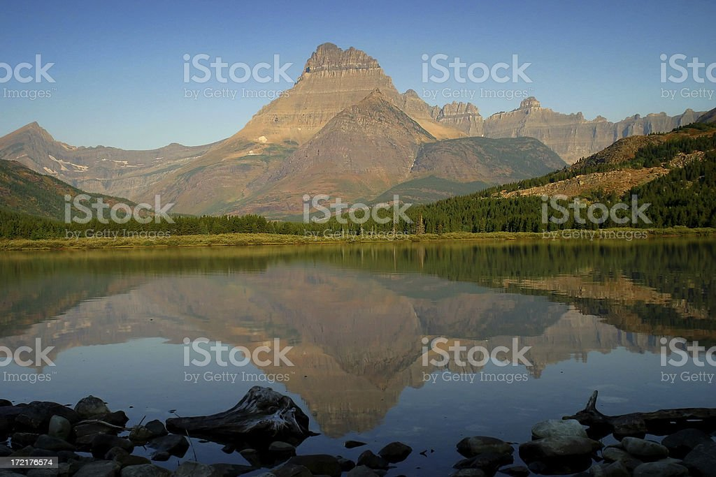 Swiftcurrent Lake royalty-free stock photo