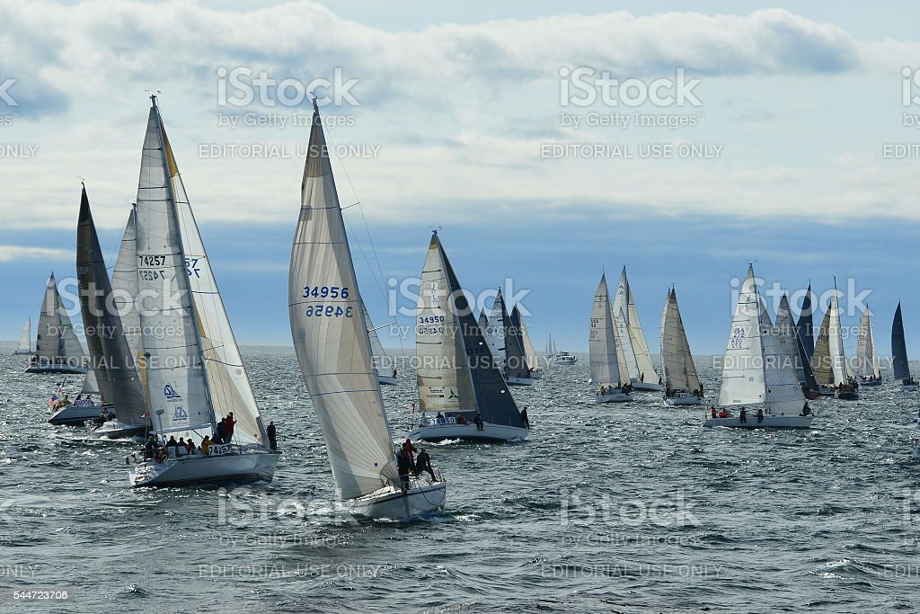 Swiftsure yacht race in Victoria stock photo
