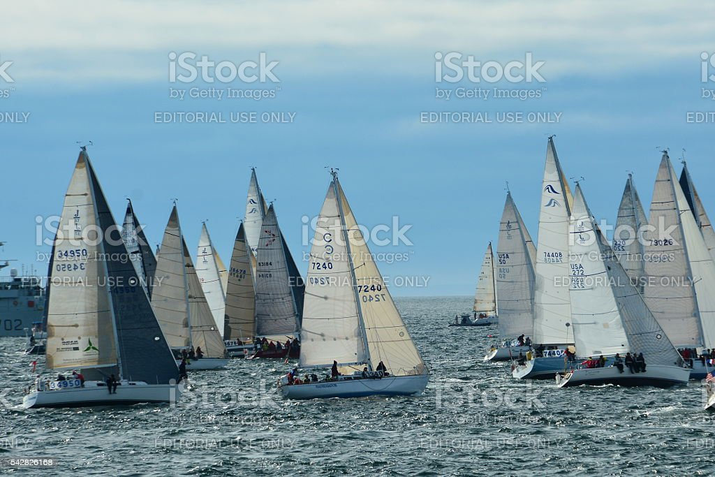 Swiftsure Yacht race stock photo