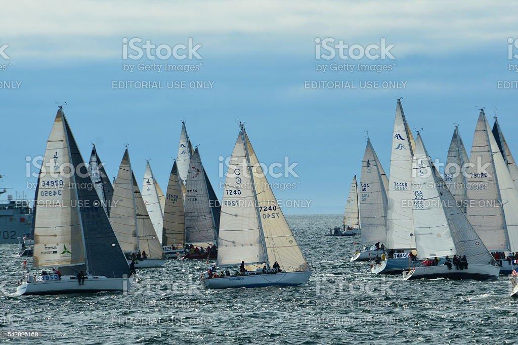 Swiftsure Yacht race stock photo